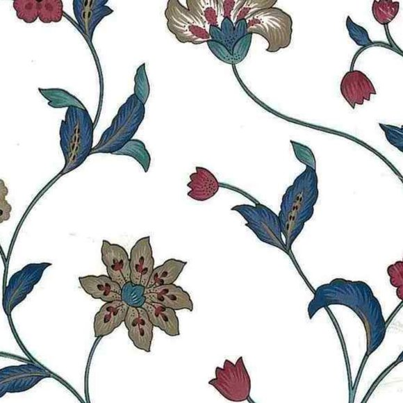 Waverly x Schumacher Vintage Jacobean Wallpaper